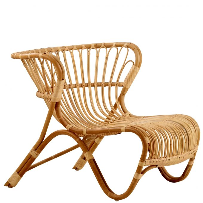 Fox Chair Stuhl Sessel Rattan Nature Sika Design Viggo Boesen Tagwerc