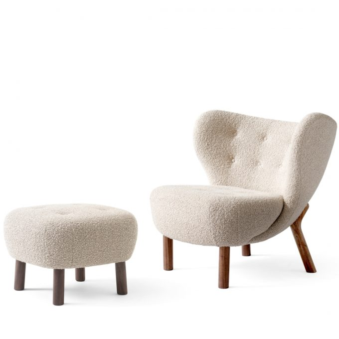 Little Petra Sessel Lounge Chair Ohrensessel mit Karakorum 003 Beige Pouf Atd1 Walnuss Andtradition Viggo Boesen Tagwerc