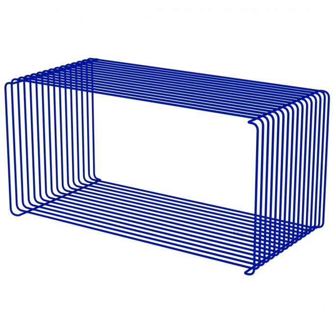 Panton Wire Extended Wire Shelf 34 8 Design Regal Blau Monarch Buecherregal Wandregal Metallregal Drahtregal Montana Verner Panton Tagwerc